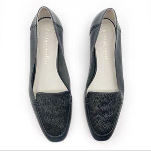 Bettye Muller Pebbled Leather Classic Loafers
